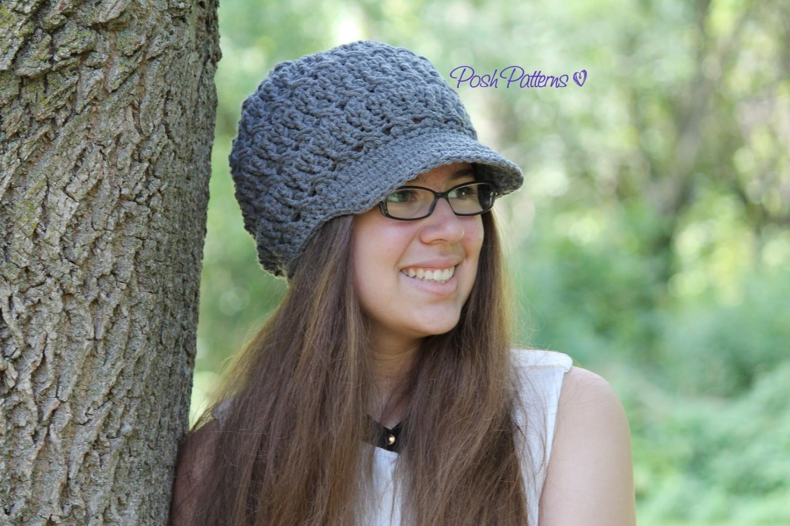 Slouchy Hat Crochet Pattern | Crochet Newsboy Hat