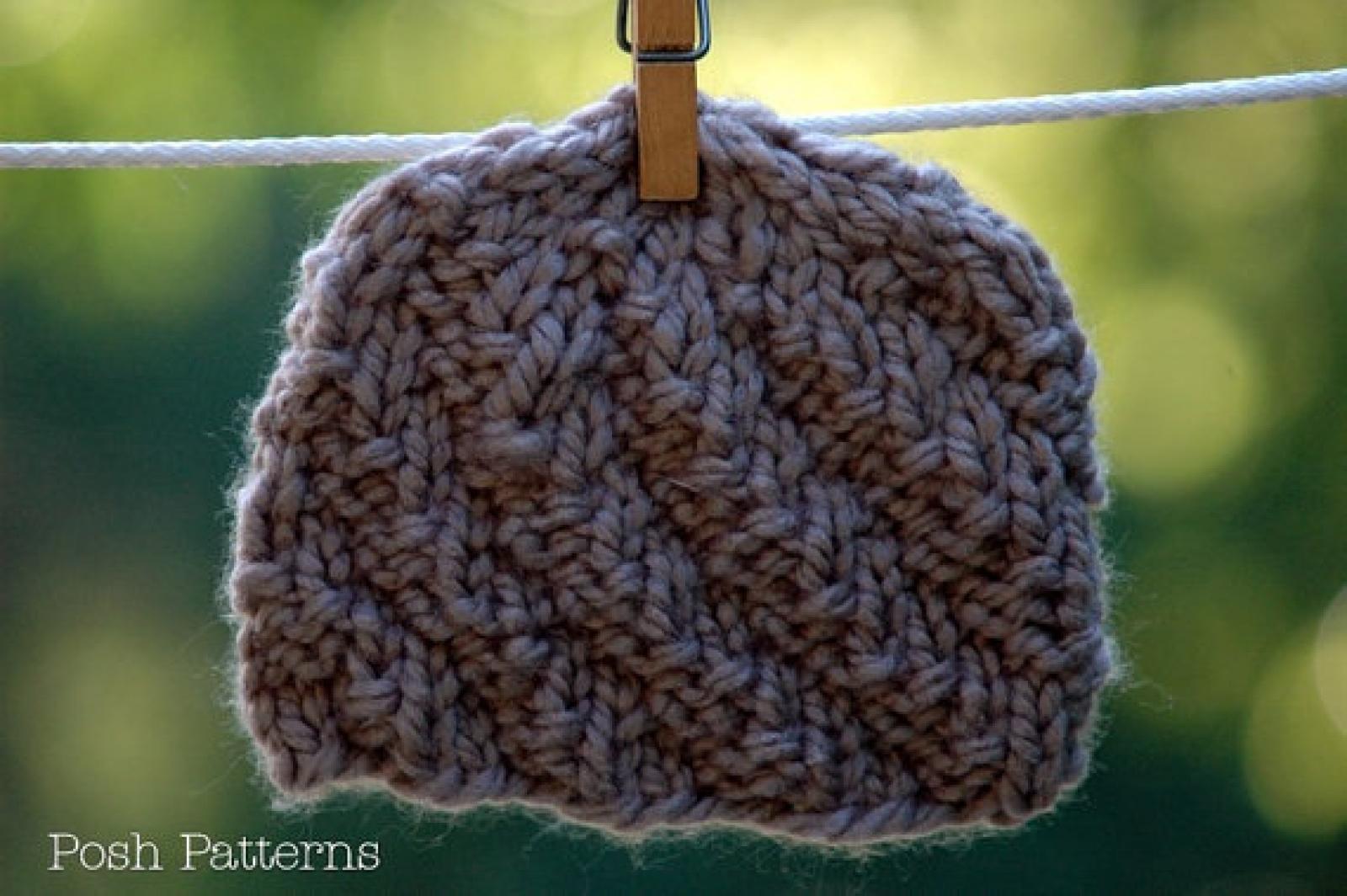 Spiral Hat Knitting Pattern Knit Beanie Pattern