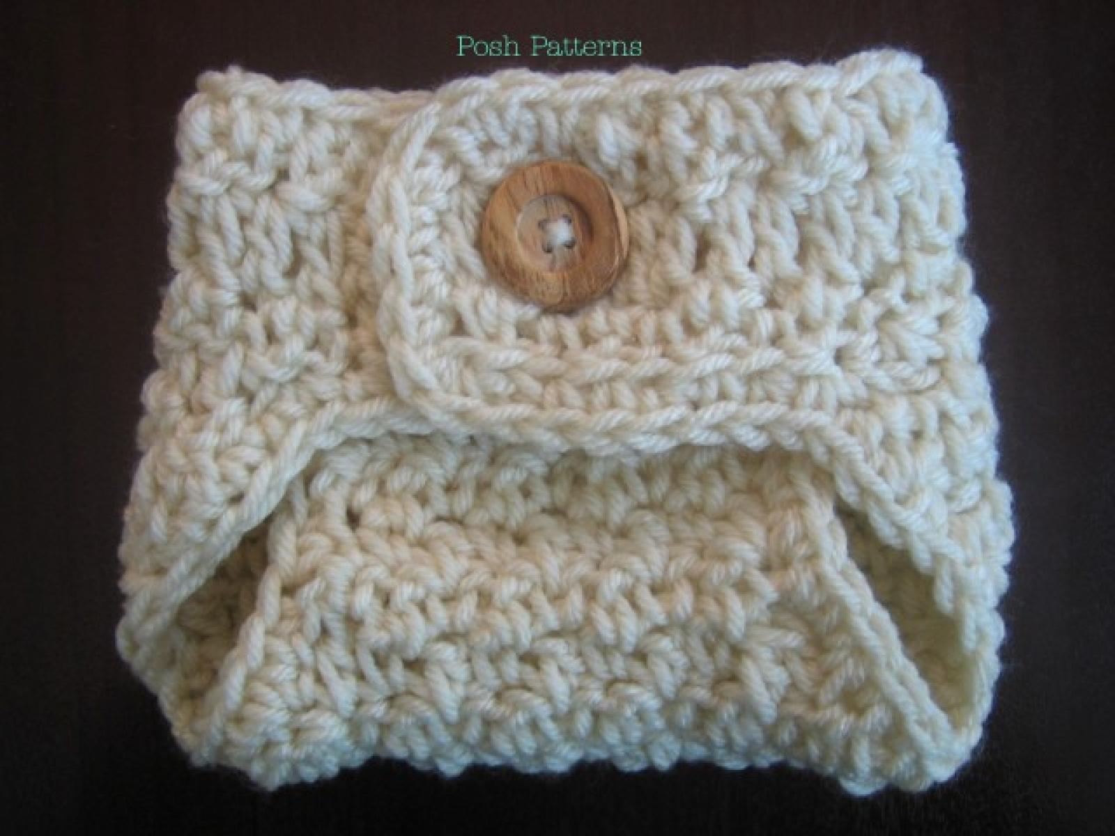 Crochet Pattern Diaper Cover Button Up Soaker Pattern