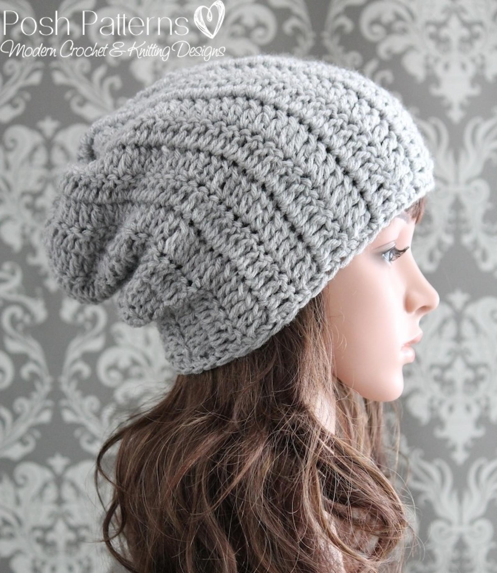 Easy Crochet Pattern Crochet Slouchy Hat Pattern