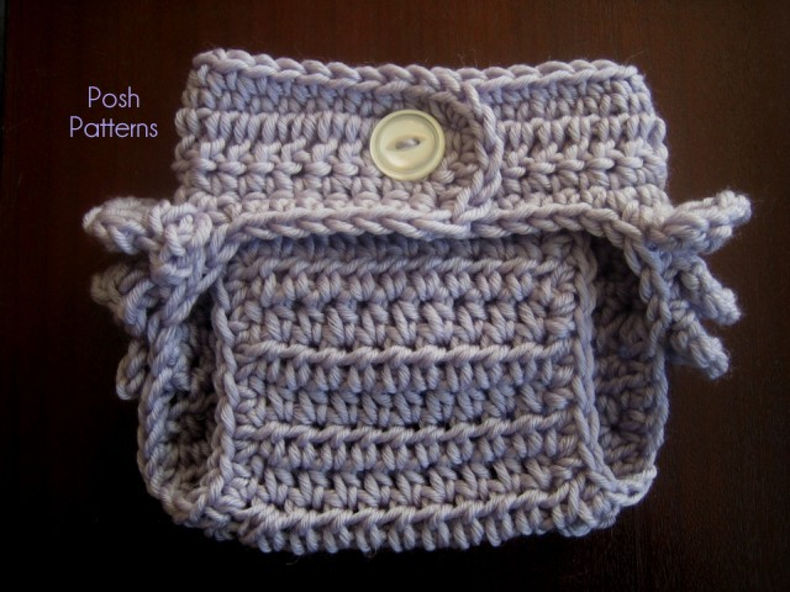 Crochet Pattern Ruffle Bottom Diaper Cover