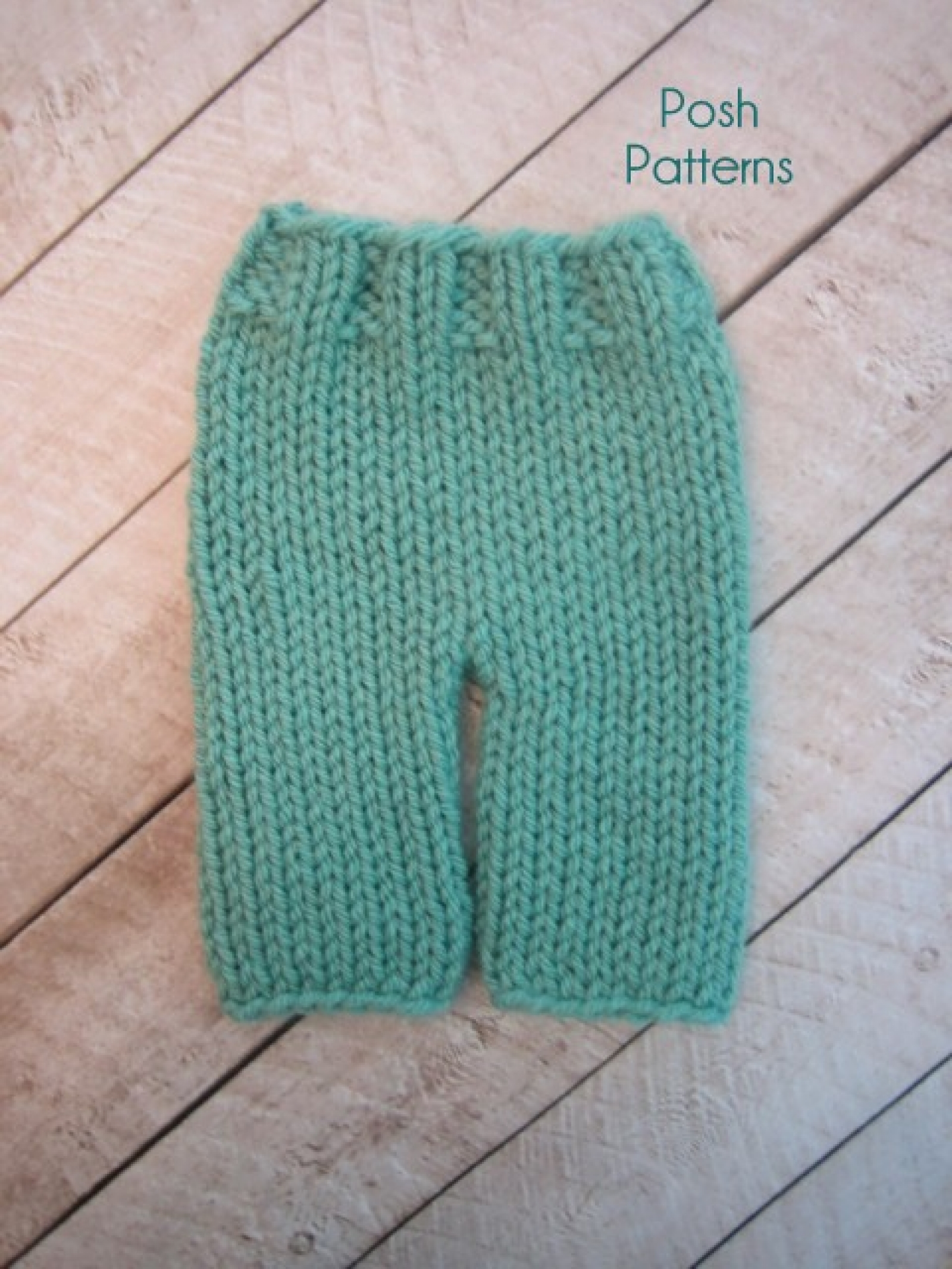 Knitting Pattern Baby Pants Easy Knit Pants 3 Sizes
