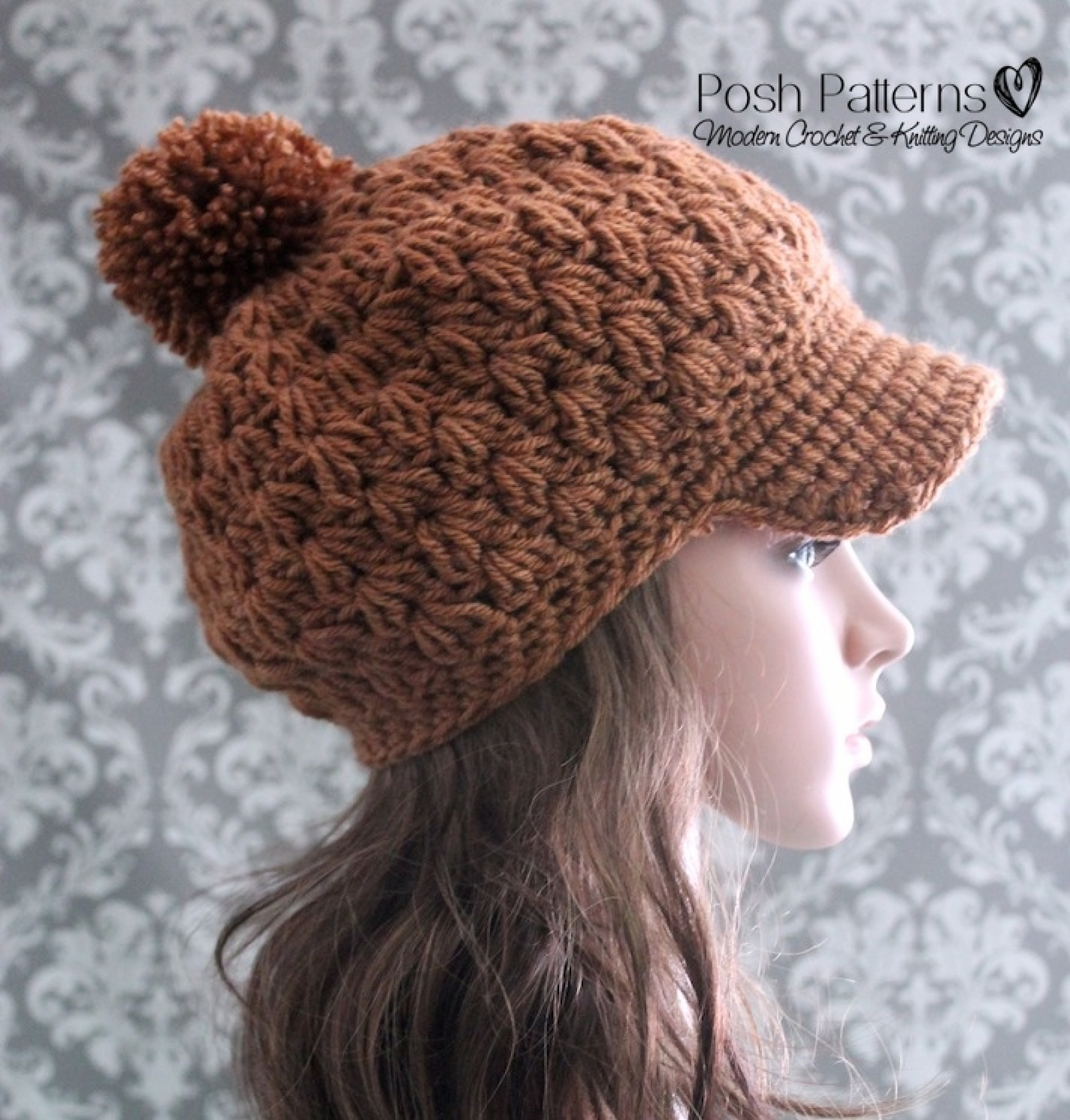 Slouchy Hat Crochet Pattern Newsboy Hat Pattern