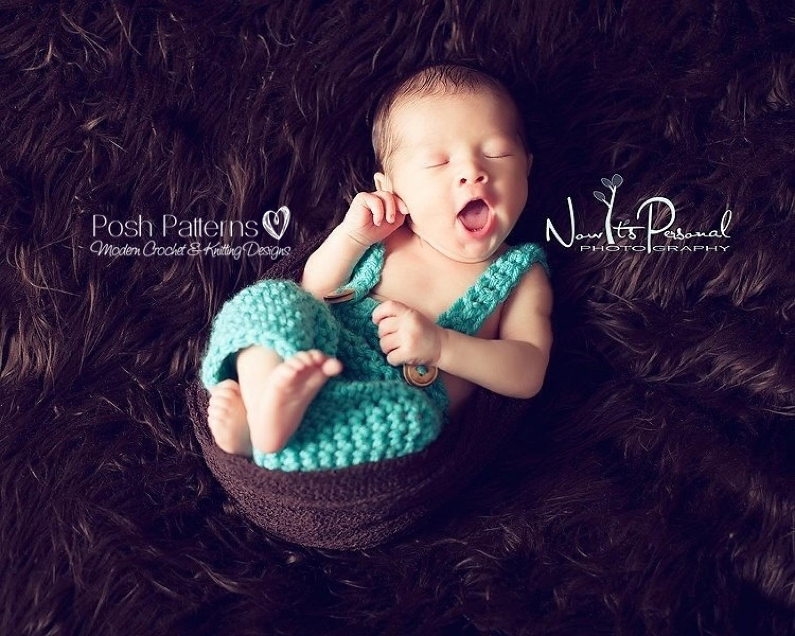 Baby Suspender Pants Crochet Pattern Nerd Photo Prop