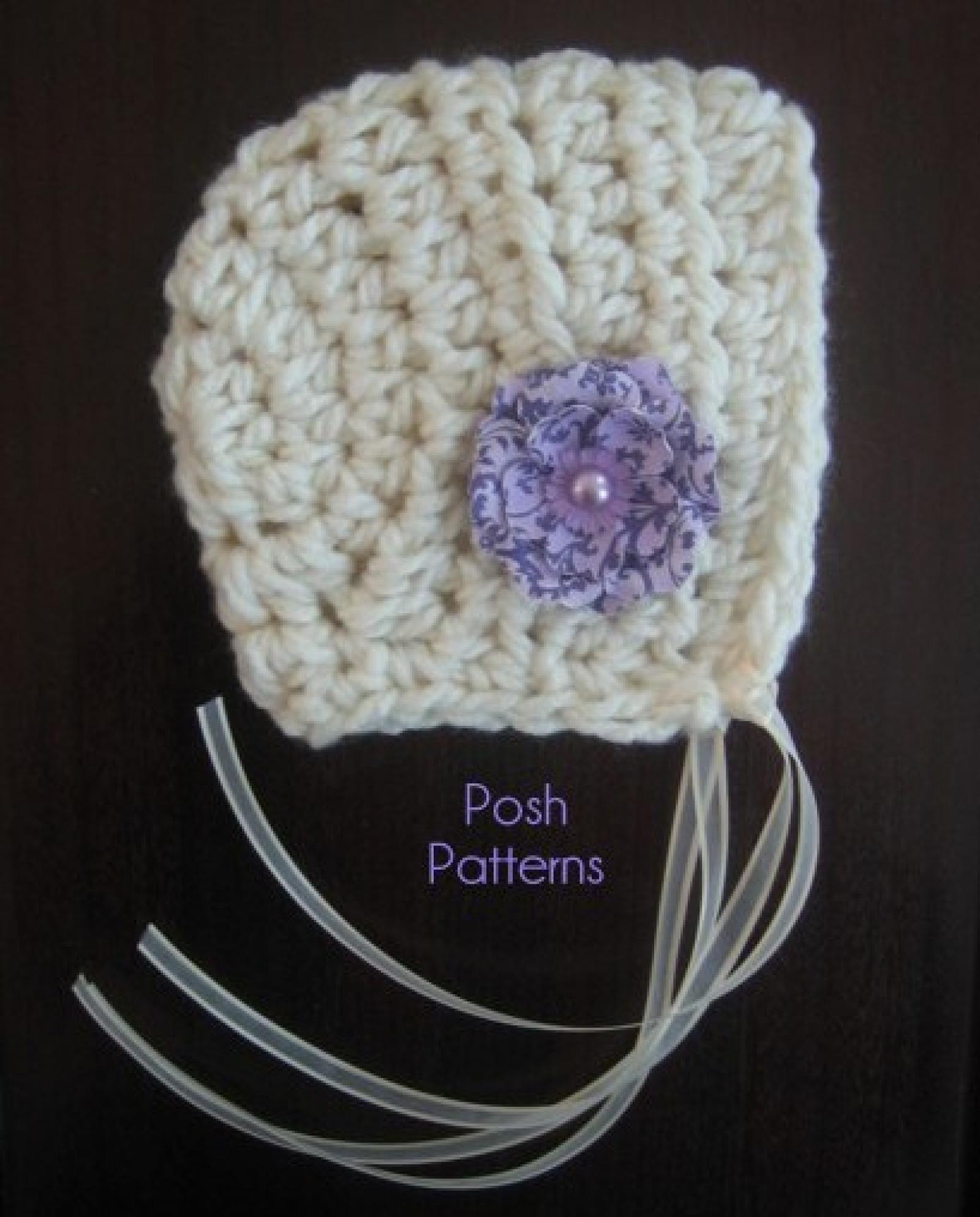 Easy Bonnet Crochet Pattern Crochet Pixie Hat