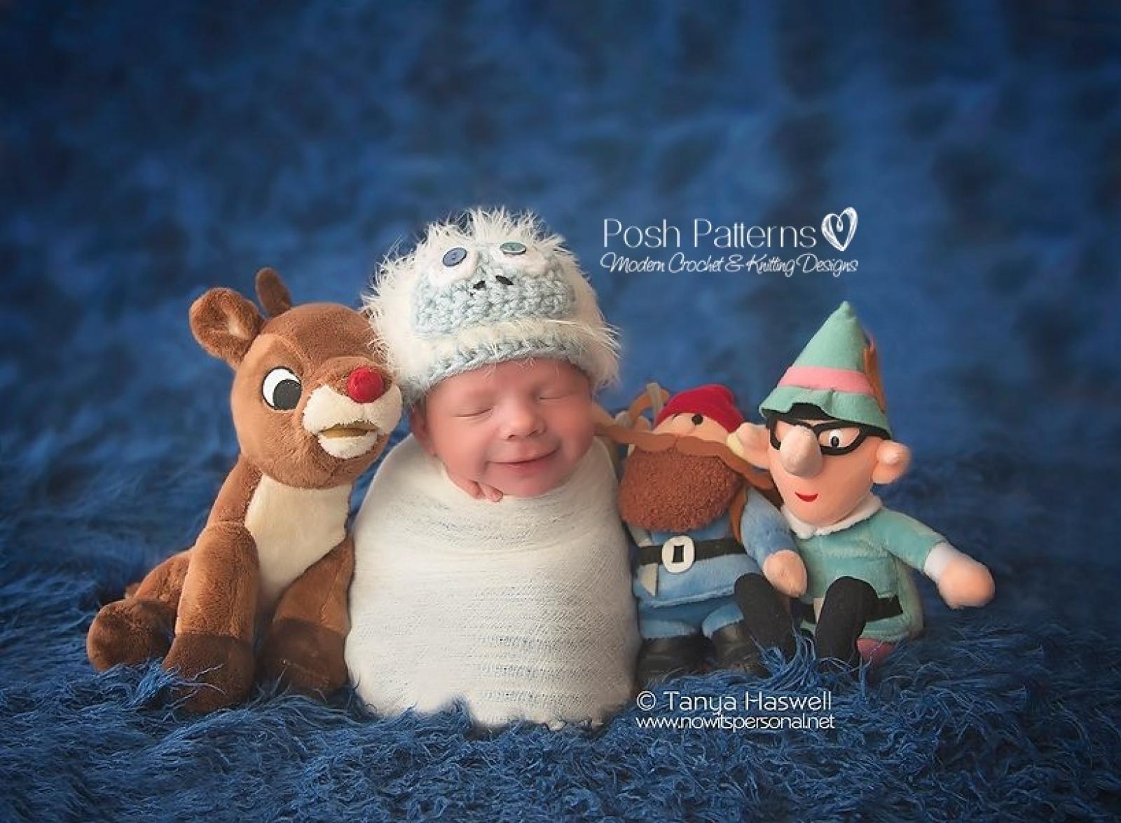 Crochet Hat Pattern | Bumble Hat | Abominable Snowman Hat
