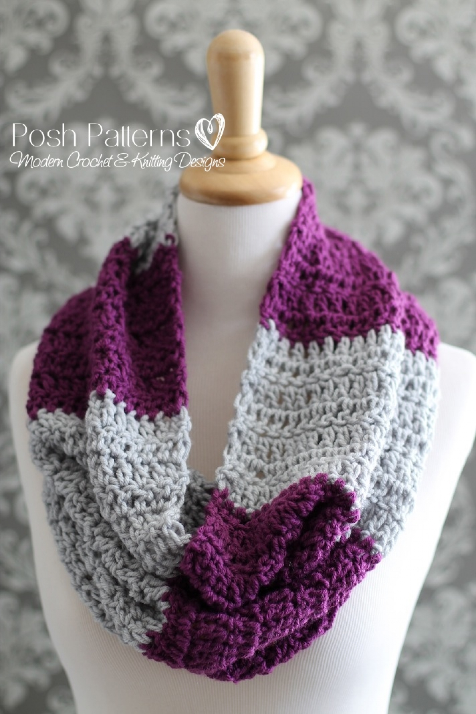 Cowl Crochet Pattern | Infinity Scarf | Circle Scarf
