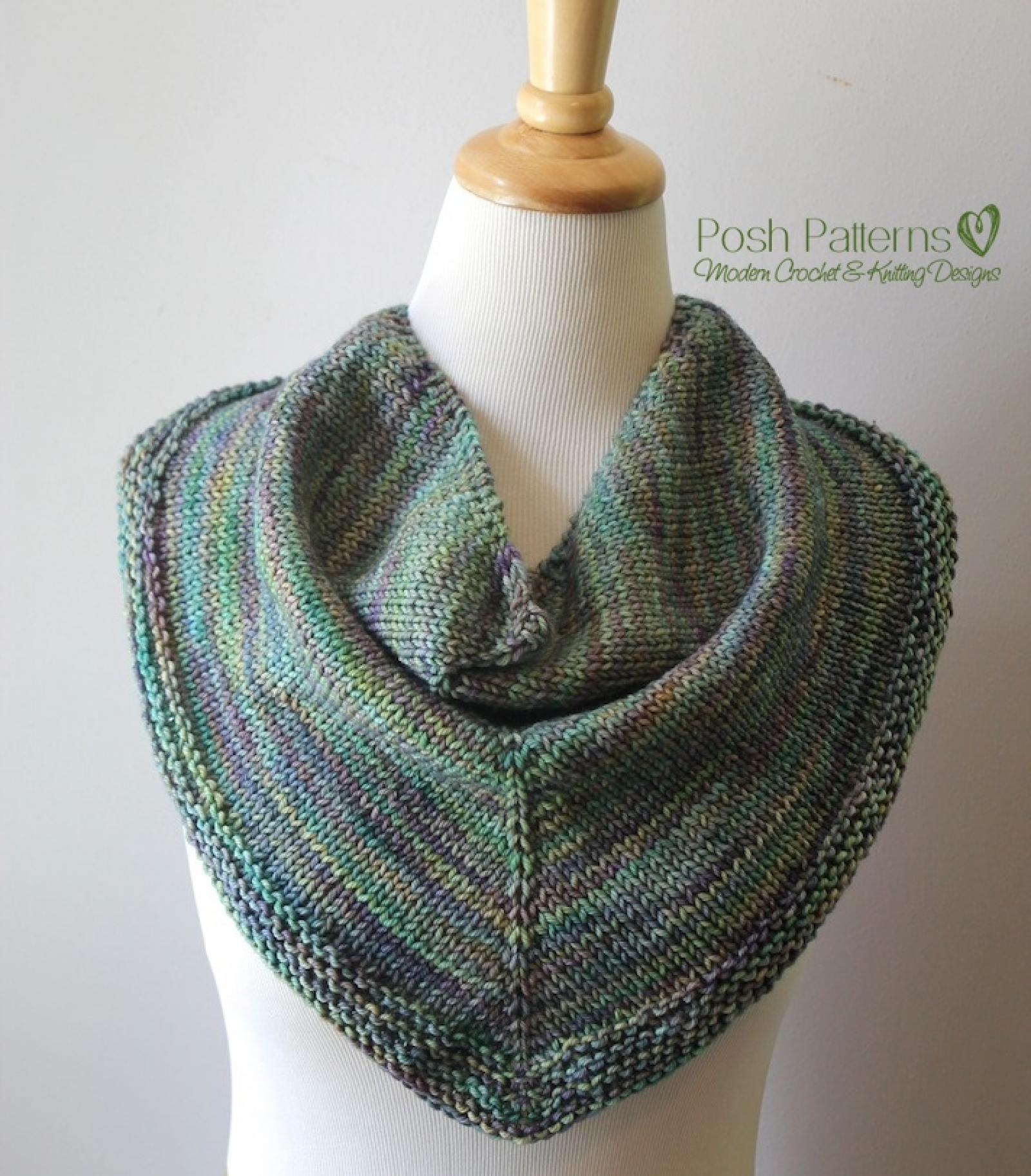 Triangle Scarf Knitting Pattern Shawl Kerchief Pattern