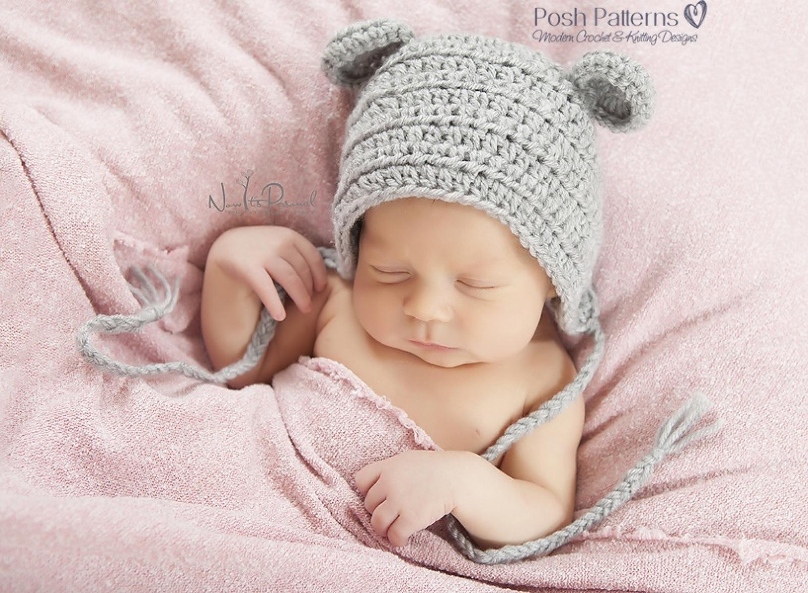 Mouse Baby Bonnet Crochet Pattern - Crochet Mouse Hat 5f4da57c96e