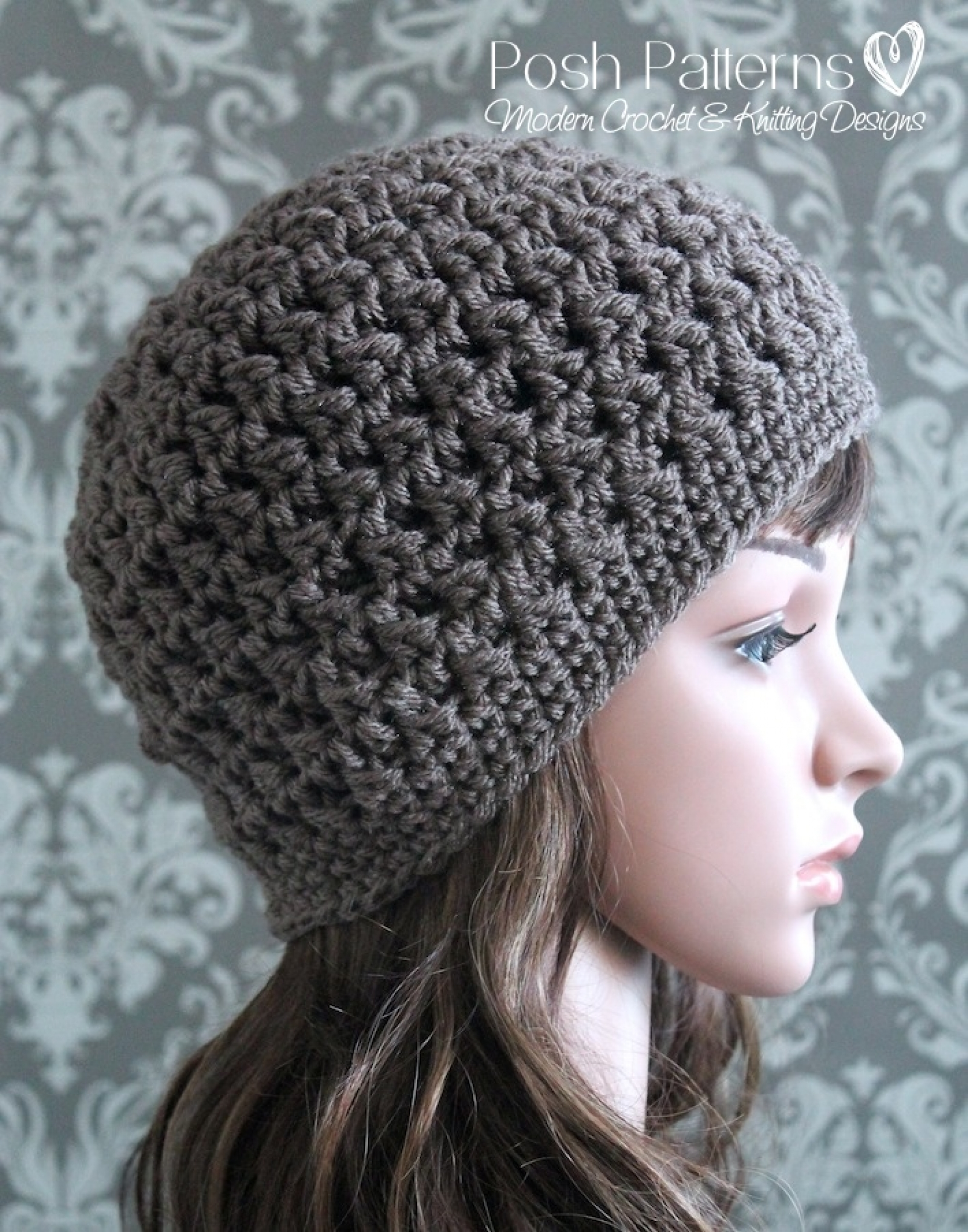 Crochet Hat Pattern Cable Cluster Beanie