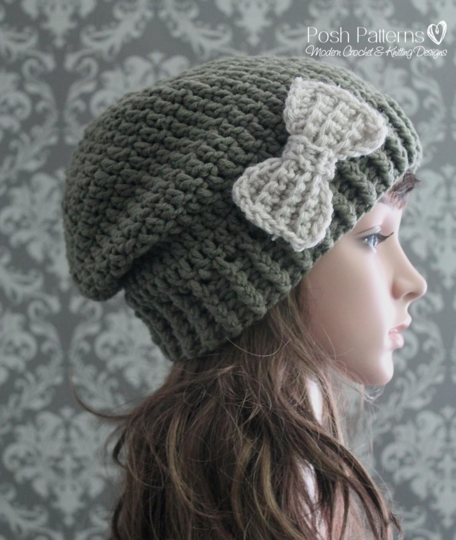 048bb2d6582 Child Slouchy Hat Crochet Pattern - Parchment N Lead