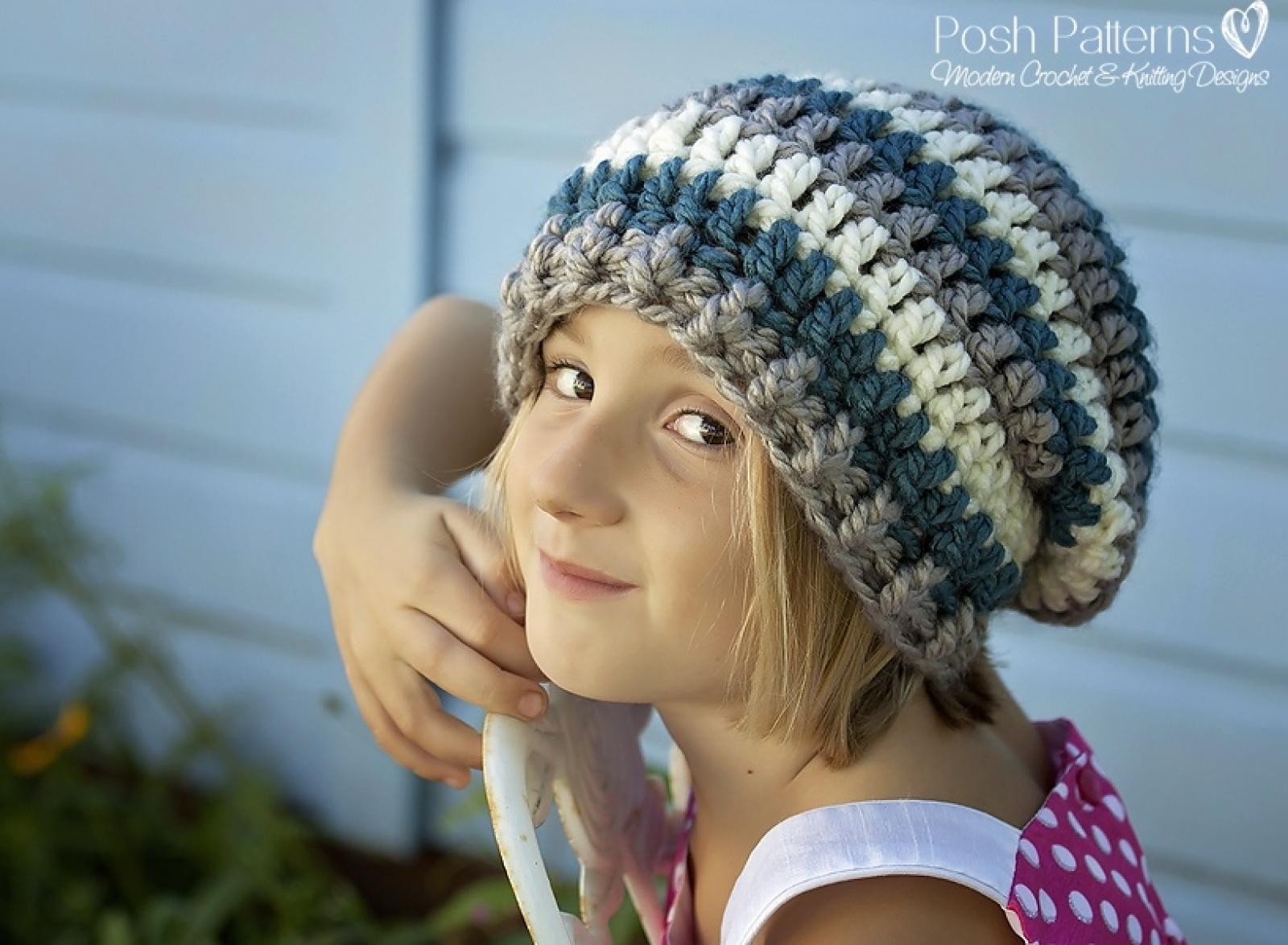 Crochet Slouchy Hat Pattern Beret Pattern