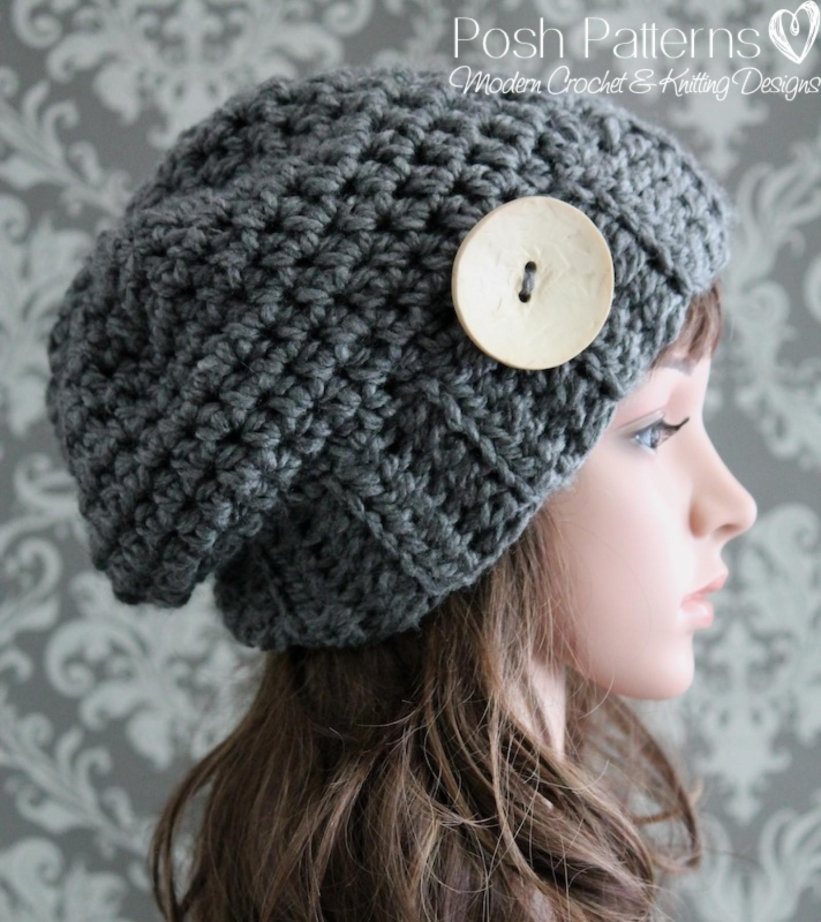 Chunky Slouchy Hat Crochet Pattern