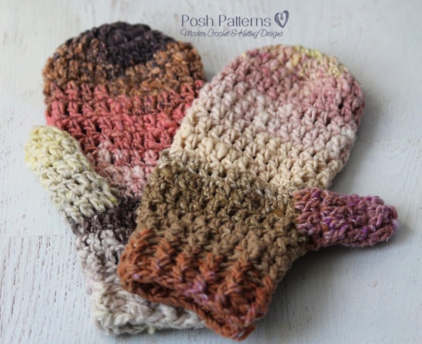 Crochet Pattern Mittens - Crochet Mitten Pattern - Teen Adult