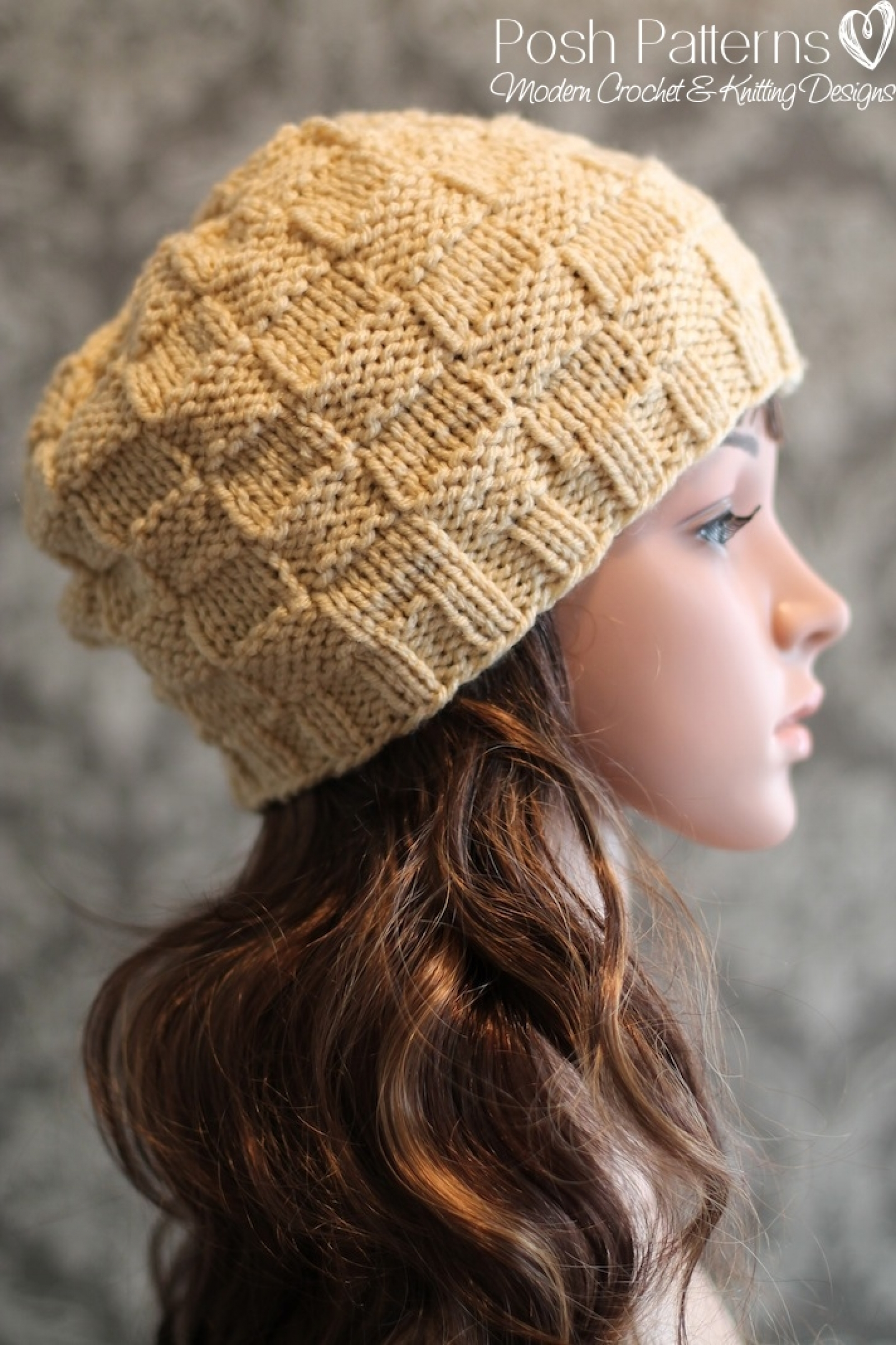 Basket Weave Hat Knitting Pattern | Beanie Pattern