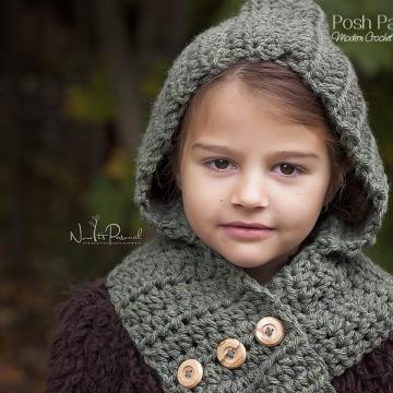 Hooded Scarf Crochet Pattern - Hooded Cowl Pattern