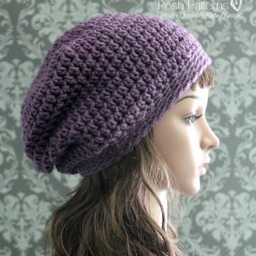 Crochet Slouchy Hat Pattern - Crochet Hat Pattern