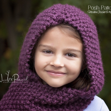 Hooded Scarf Knitting Pattern - Knit Cowl Pattern
