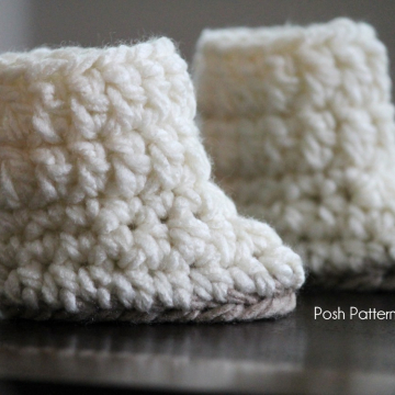 Crochet Baby Boots Pattern | Easy Booties | 2 Sizes