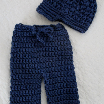 Crochet Pattern Baby Pants and Newsboy Hat