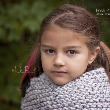 Knit Cowl Pattern - Easy Knitting Pattern Button Cape