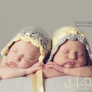 Vintage Baby Bonnet Crochet Pattern - Pixie Hat