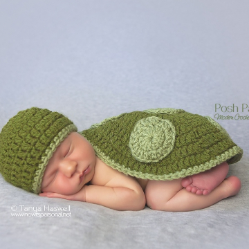 Turtle Hat & Shell Crochet Pattern | Photography Prop