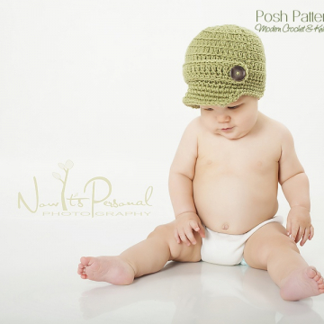 Crochet Newsboy Hat Pattern | Visor Hat Crochet Pattern