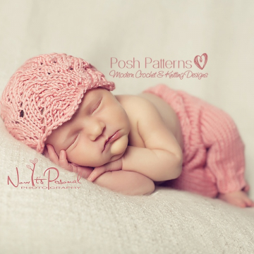 Lace Hat Knitting Pattern | Girls Knit Hat Pattern