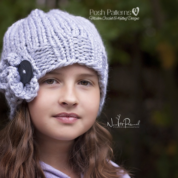 Ruffle Hat Knitting Pattern - Knit Slouchy Hat Pattern