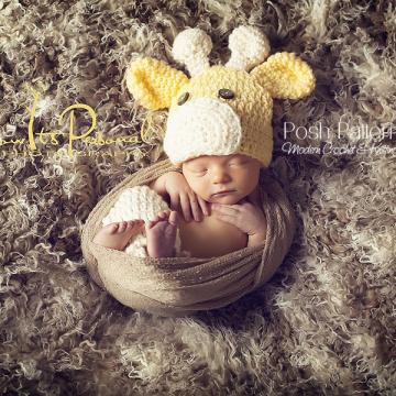 Giraffe Hat Crochet Pattern - Baby Giraffe Hat
