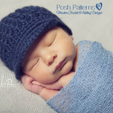 Newsboy Hat Crochet Pattern - Crochet Visor Hat Pattern