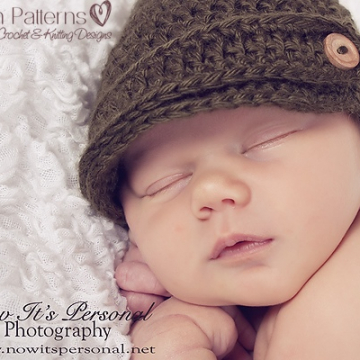 Crochet Newsboy Hat Pattern | Visor Hat Pattern