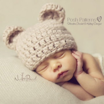 Bear Hat Crochet Pattern | Teddy Bear Hat