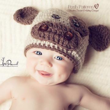 Baby Cow Hat Crochet Pattern   Kids Cow Beanie