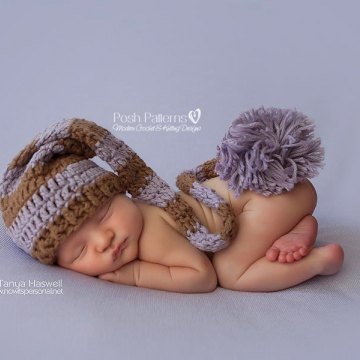 Long Tail Pixie Hat Crochet Pattern | Stocking Hat