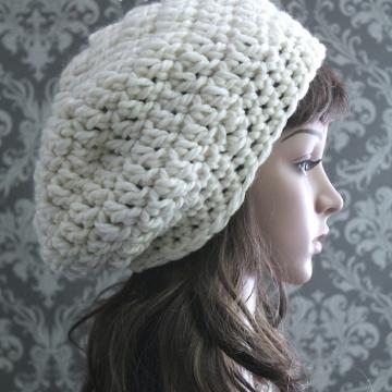 Crochet Slouchy Hat Pattern | Beret Pattern
