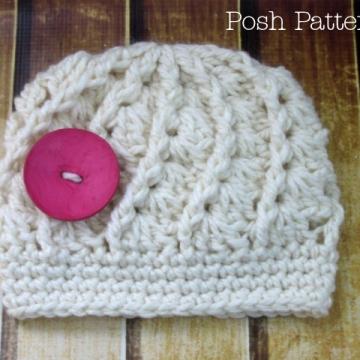 Crochet Hat Pattern | Spiral Shells Beanie Crochet Pattern