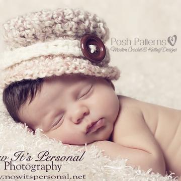 Crochet Baby Hat Pattern   Little Lady Hat   3 Sizes