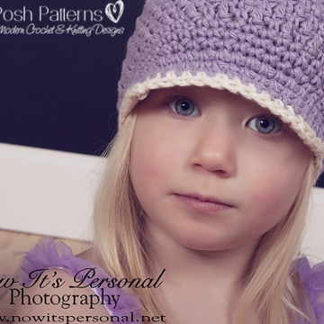 Crochet Newsboy Hat Pattern - Visor Hat Pattern