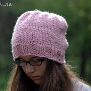 Knit Slouchy Hat Pattern | Slouchy Hat Knitting Pattern