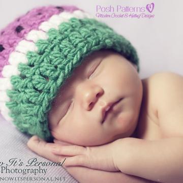 Crochet Pattern Baby Watermelon Hat - Fruit Beanie