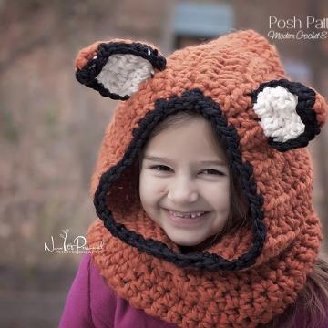 Fox Hooded Cowl Crochet Pattern - Crochet Hood