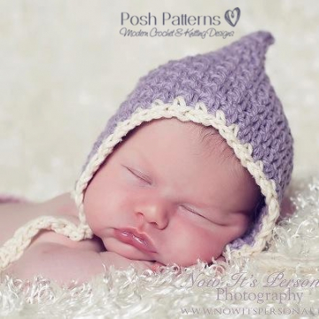 Crochet Bonnet Pattern - Vintage Pixie Hat Pattern