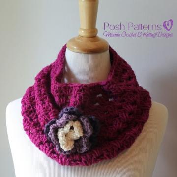 Crochet Cowl Pattern | Infinity Scarf Pattern | Circle Scarf