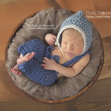 Crochet Pattern Chin Strap Pixie Hat | Bonnet Pattern