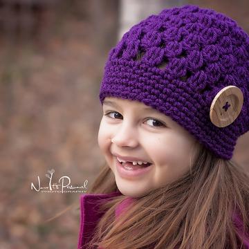 Crochet Slouchy Hat Pattern | Girls Crochet Hat