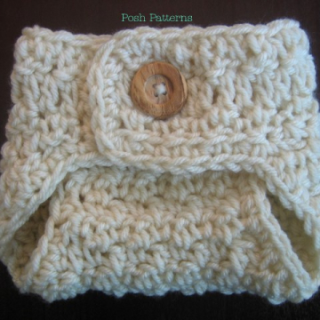 Crochet Pattern Diaper Cover | Button Up Soaker Pattern