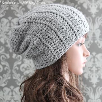 Easy Crochet Pattern - Crochet Slouchy Hat Pattern