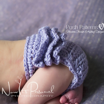 Crochet Pattern Ruffle Bottom Diaper Cover